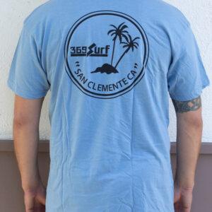 369 San Clemente Palms Blue T Shirt