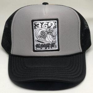 369 Surf Zombie Trucker Hat Black/Grey/White