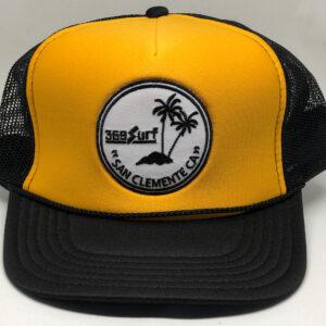 369 Surf San Clemente Palms Trucker Hat Black/Yellow/White