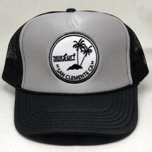369 Surf San Clemente Palms Trucker Hat Black/Grey/White
