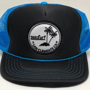 369 Surf San Clemente Palms Trucker Hat Black/Blue/White