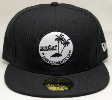 New Era 369 San Clemente Palms Fitted Hat Black/White