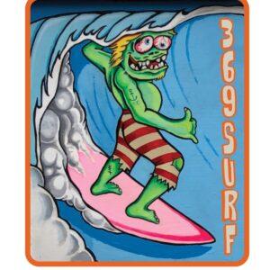369 Surf Goofy Zombie Sticker